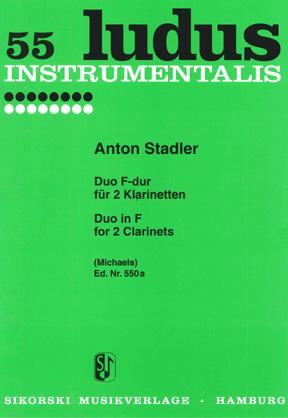 Stadler: Duo F ( Ludus 55 ): Clarinet Duet: Instrumental Work
