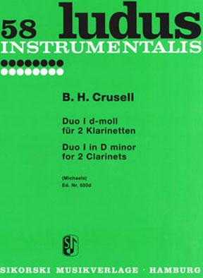 B.H. Crusell: Duo 1 D ( Ludus 58 ): Clarinet Duet: Instrumental Work