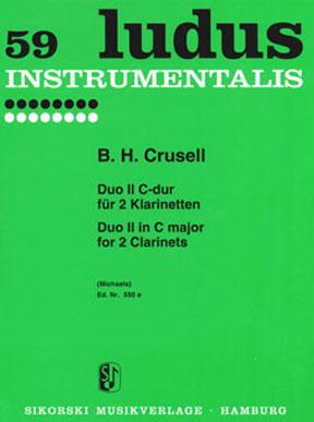 B.H. Crusell: Duo 2 C ( Ludus 59 ): Clarinet Duet: Instrumental Work