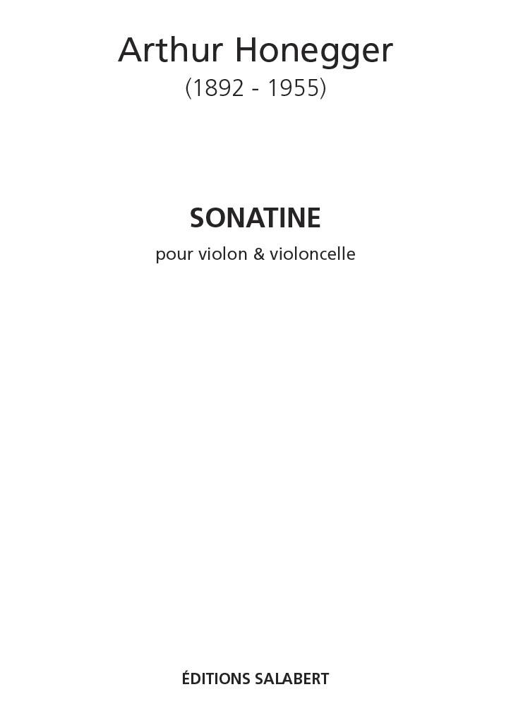 Arthur Honegger: Sonatine: Violin & Cello