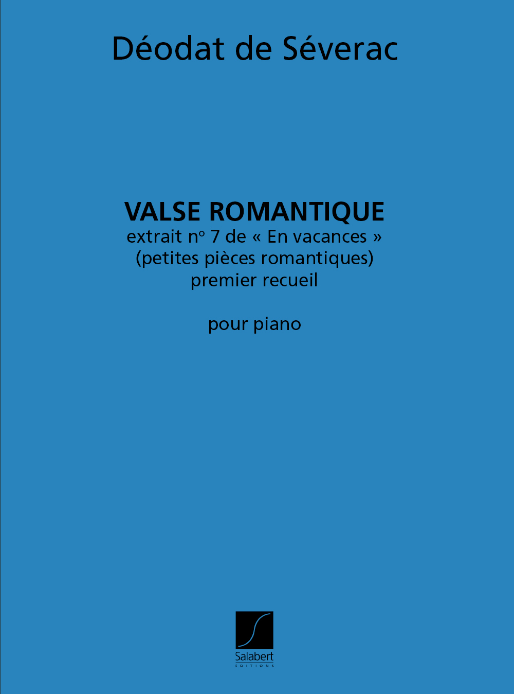 Déodat de Séverac: Valse Romantique  extrait no.7 de