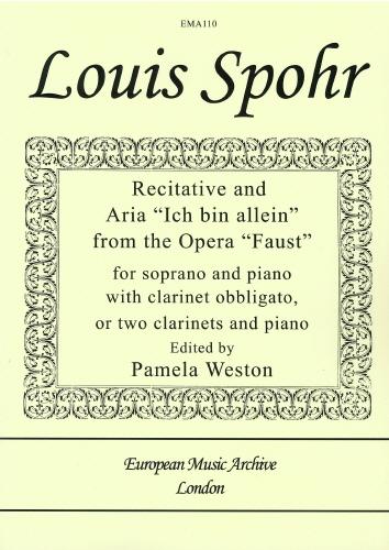 Louis Spohr: Ich Bin Allein From The Opera Faust: Soprano: Vocal Album
