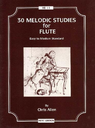 C. Allen: 30 Melodic Studies For Flute: Flute: Study