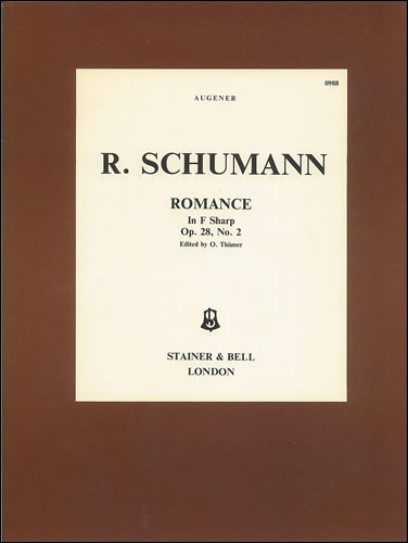 Romance in F sharp  Op. 28  No. 2: Piano: Instrumental Work