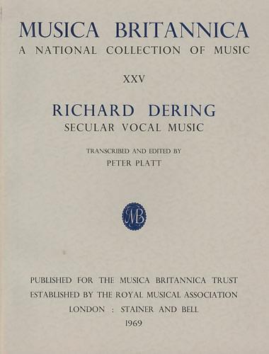 Richard Dering: Secular Vocal Music: Mixed Choir