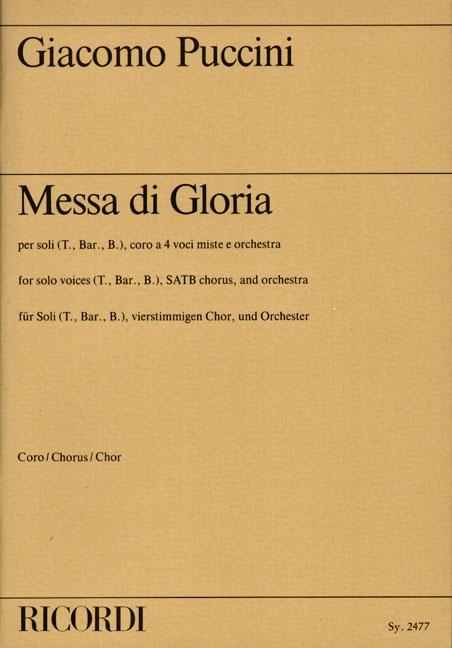 Giacomo Puccini: Messa di Gloria: Mixed Choir: Vocal Score
