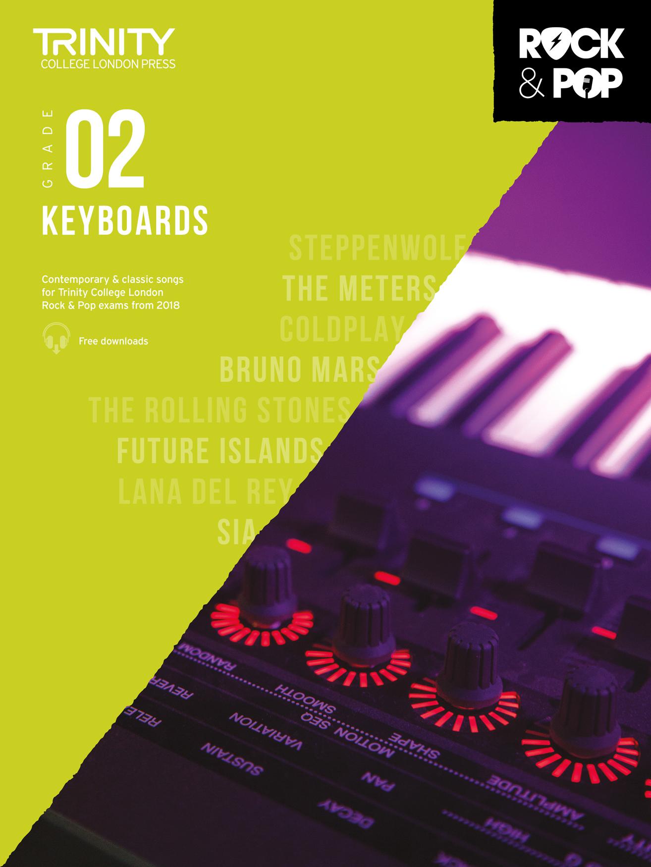 Trinity College London Rock & Pop 2018 Keyboards Grade 2 (Trinity Repertoire Library)