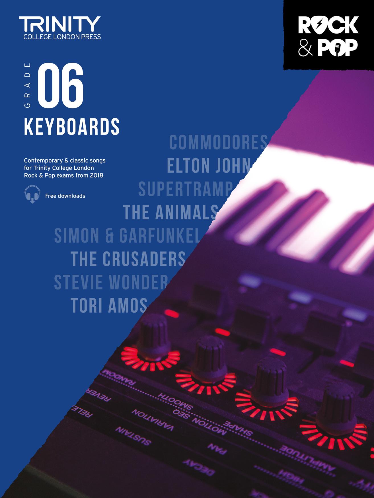 Trinity College London Rock & Pop 2018 Keyboards Grade 6 (Trinity Rock & Pop)