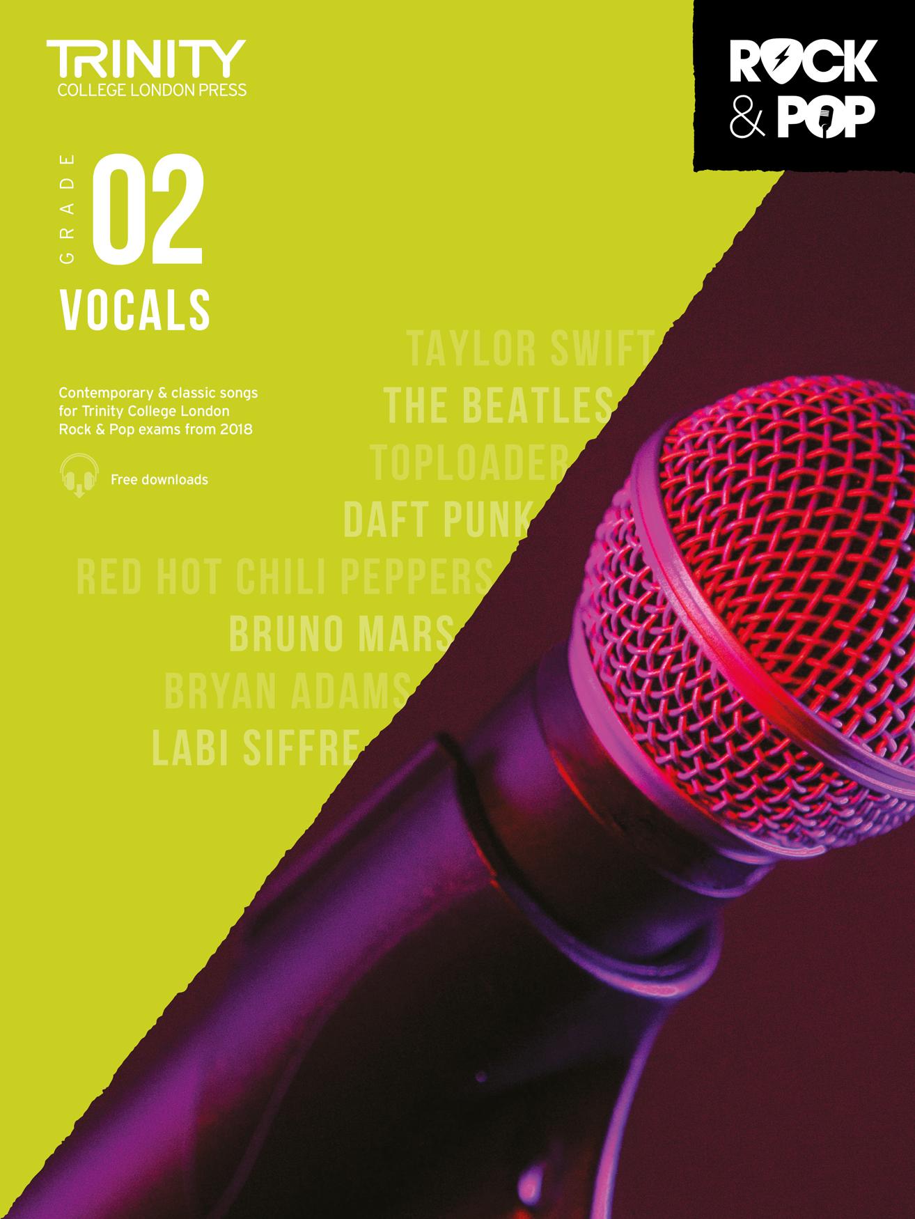 Trinity College London Rock & Pop 2018 Vocals Grade 2 (Trinity Rock & Pop)