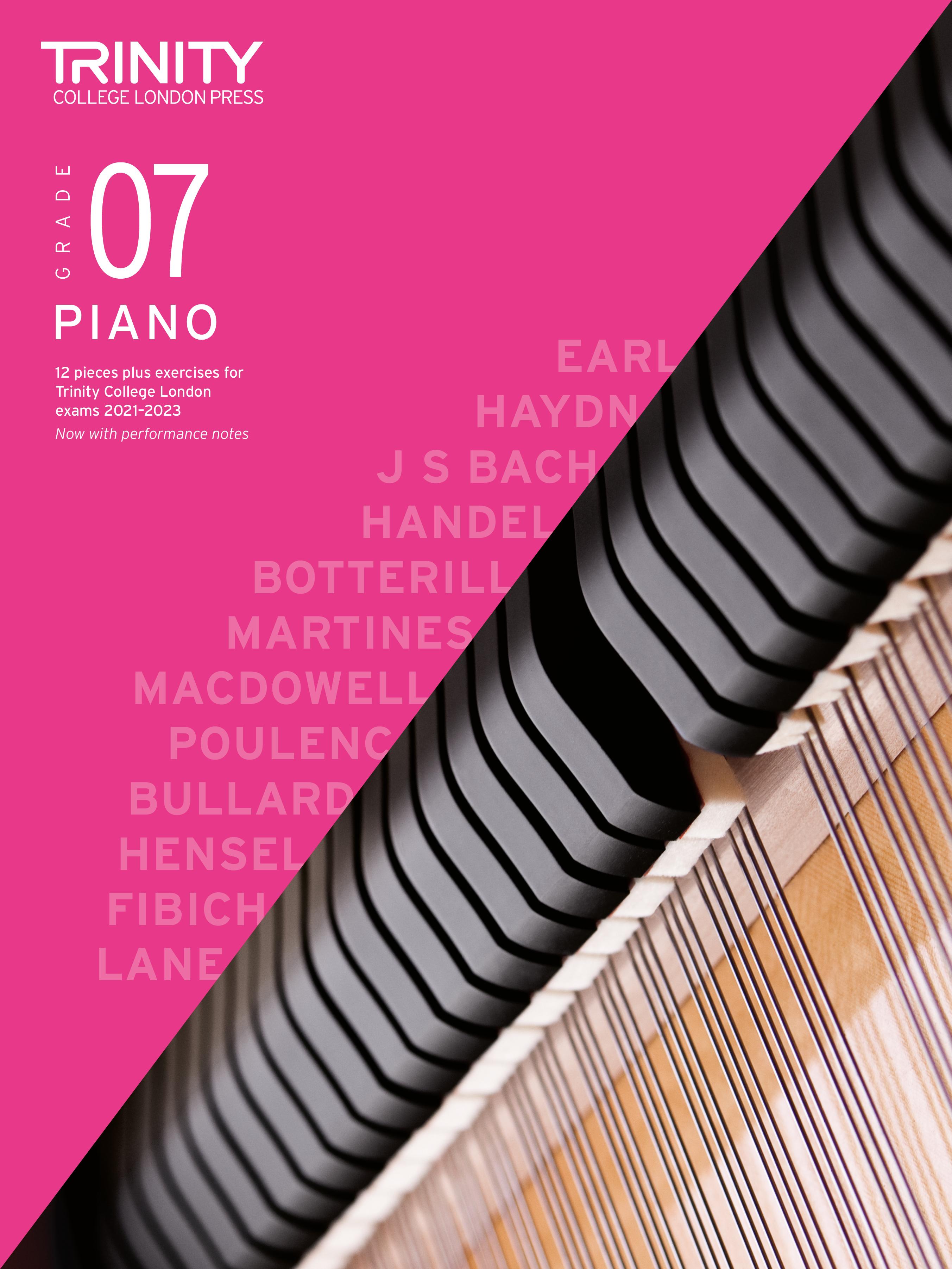 Piano Exam Pieces & Exercises 2021-2023: Grade 7: Piano: Instrumental Tutor