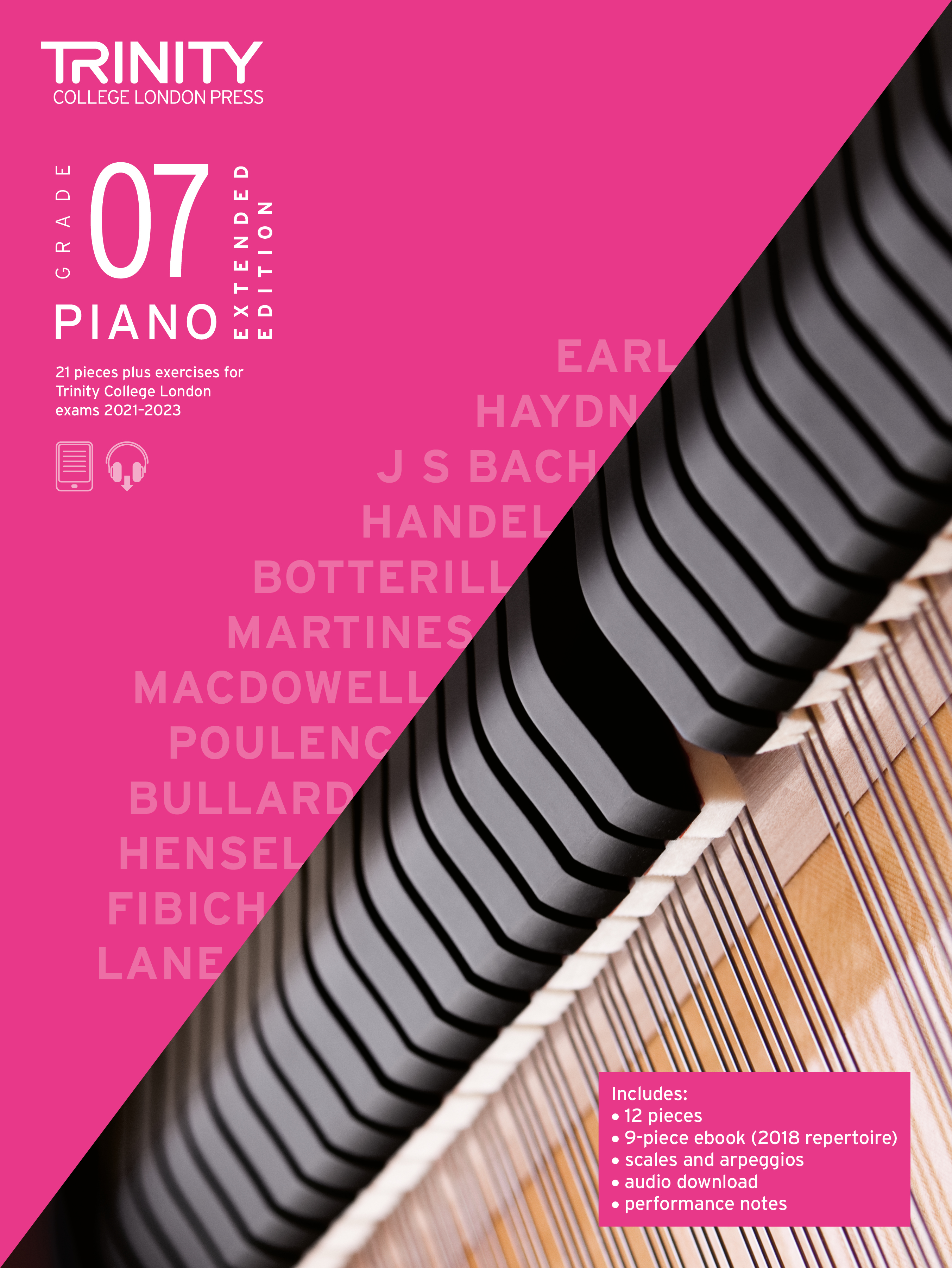 Piano Exam Pieces & Exercises 21-23 Grade 7 Ext Ed: Piano: Instrumental Tutor