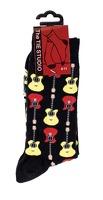 Acoustic Guitar Socks - Black (Size 6-11): Clothing