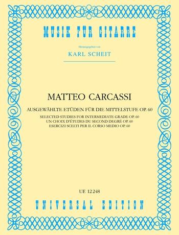 Matteo Carcassi: Etudes Opus 60: Guitar: Instrumental Album