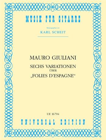 Mauro Giuliani: Variationen(6) Uber Folies: Guitar: Instrumental Work