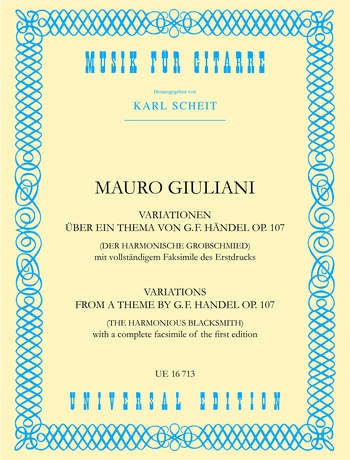 Mauro Giuliani: Variationen On A Händel Theme Opus 107: Guitar: Instrumental
