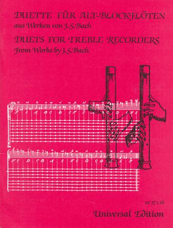 Johann Sebastian Bach: Duets for Treble Recorders: Recorder Ensemble: