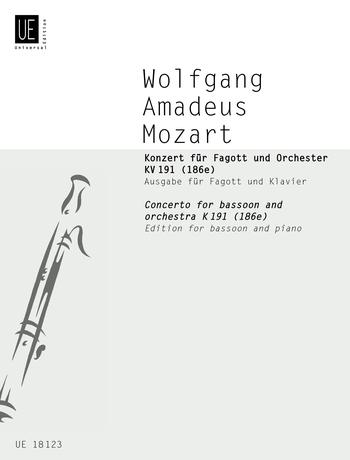 Wolfgang Amadeus Mozart: Concerto For Bassoon K. 191: Bassoon: Instrumental Work
