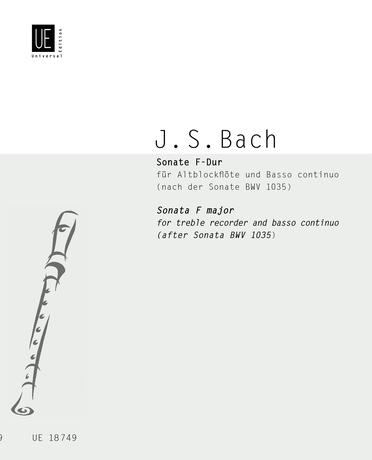 Johann Sebastian Bach: Sonata in F Major for Treble Recorder and Continuo: