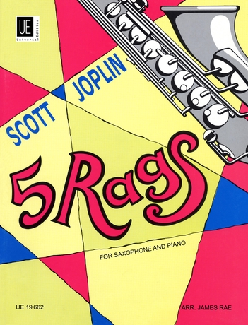Scott Joplin: 5 Rags for Saxophone and Piano: Saxophone: Instrumental Album