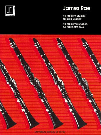James Rae: 40 Modern Studies For Solo Clarinet: Clarinet: Instrumental Work