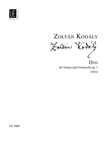 Zoltán Kodály: Duo For Violin And Cello Op.7: Violin & Cello: Instrumental Work