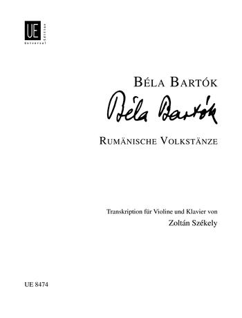Romanian Folk Dances for Violin and Piano: UE8474