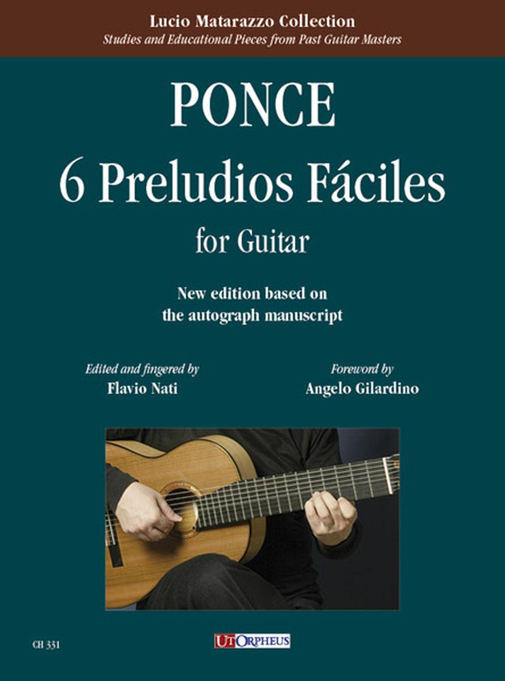 Manuel Maria Ponce: 6 Preludios Fáciles per Chitarra: Guitar: Instrumental Album
