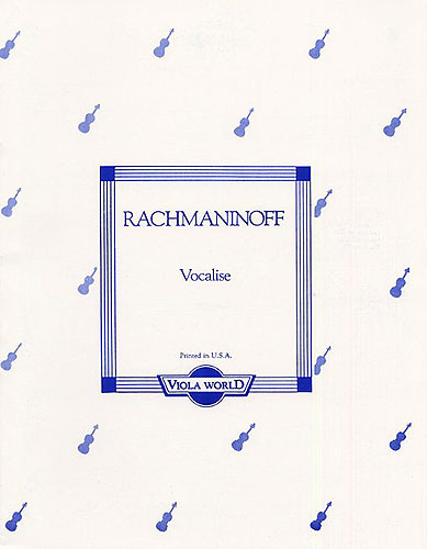 Sergei Rachmaninoff: Vocalise (Viola/Piano). Sheet Music for Viola  Piano Accompaniment