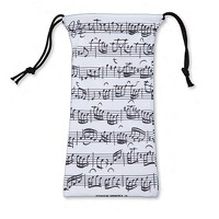 Glasses case Sheet music white: Accessory