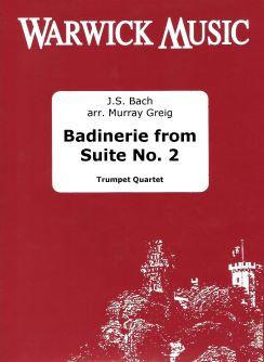 Johann Sebastian Bach: Badinerie from Suite No. 2: Trumpet Ensemble: Score &
