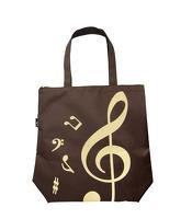 Wei I Plastics Co. Ltd. Treble Clef Tote Bag: Brown