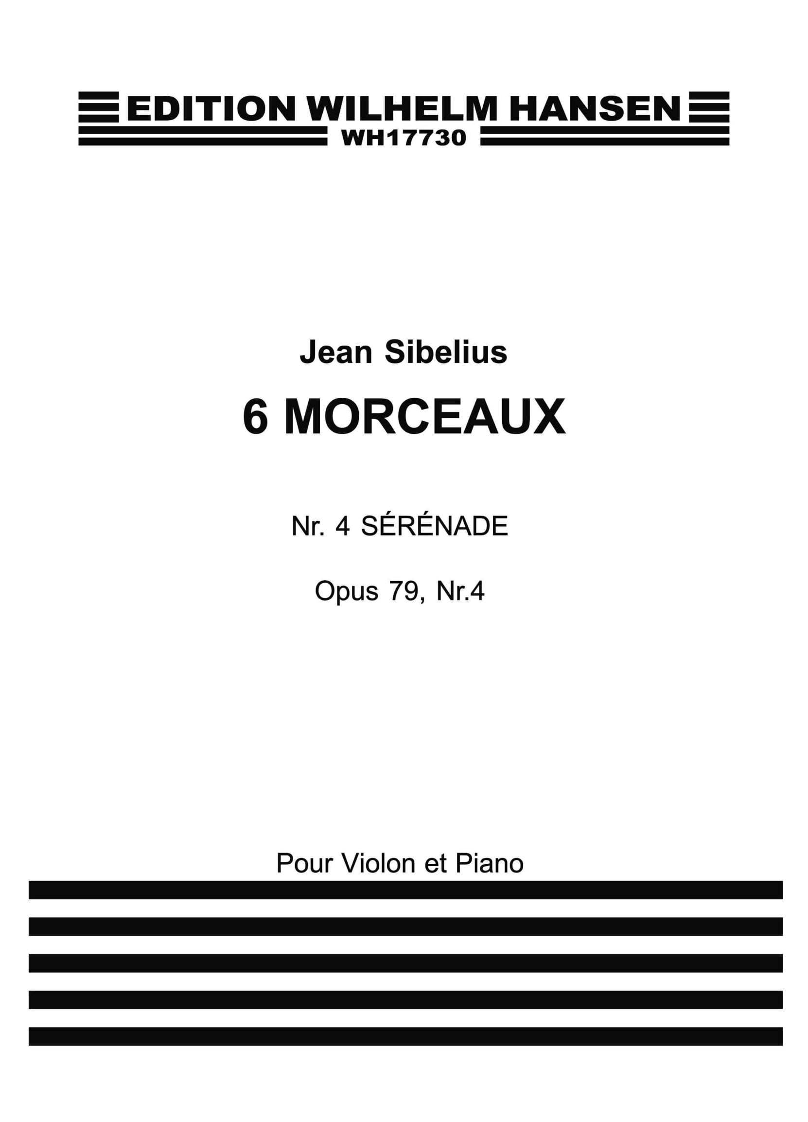 Jean Sibelius: Six Pieces Op.79 No.4 'Serenade': Violin: Instrumental Work