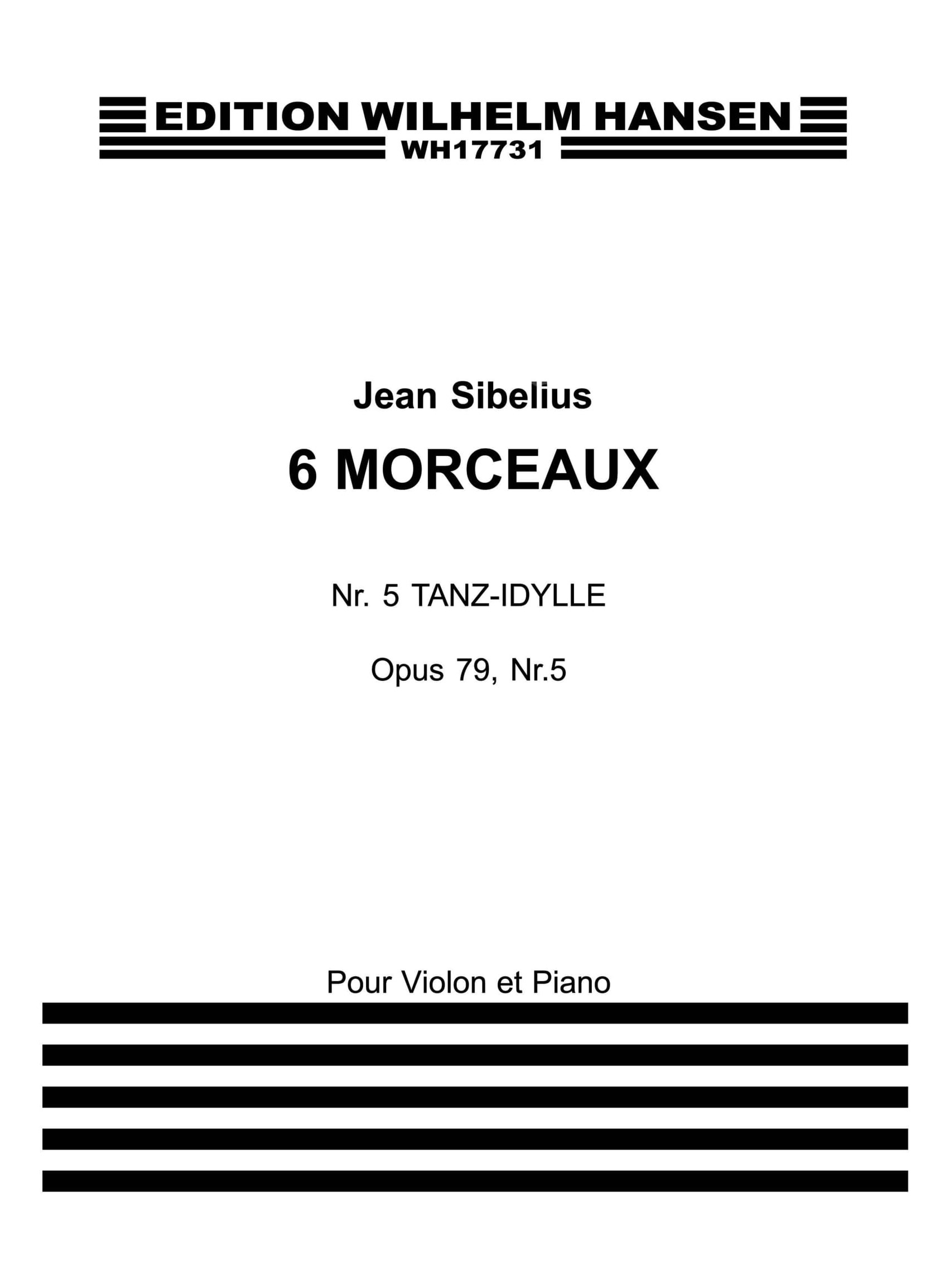 Jean Sibelius: Six Pieces Op.79 No.5: Violin: Instrumental Work