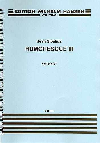 Jean Sibelius: Humoresque III Op. 89a: Violin: Score