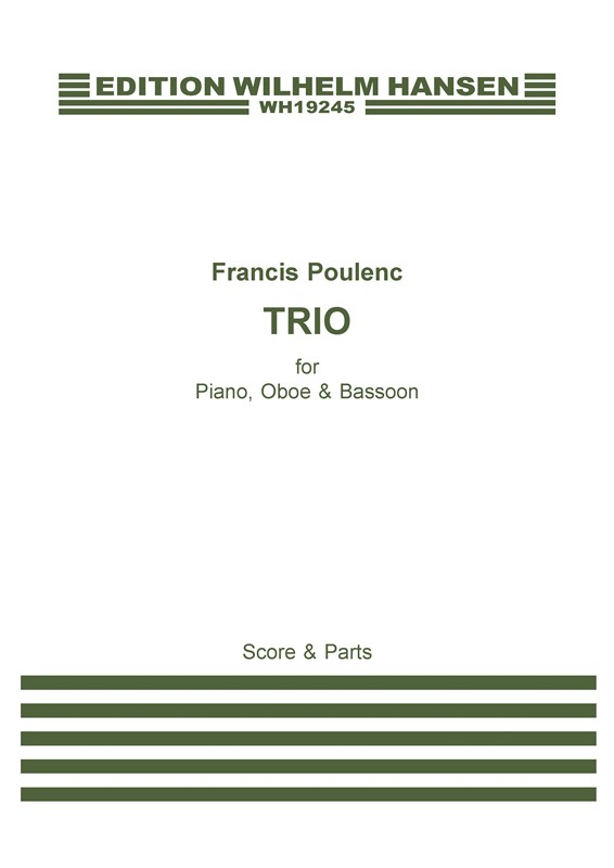 Francis Poulenc: Trio Pour Hautbois  Basson Et Piano: Chamber Ensemble: Score