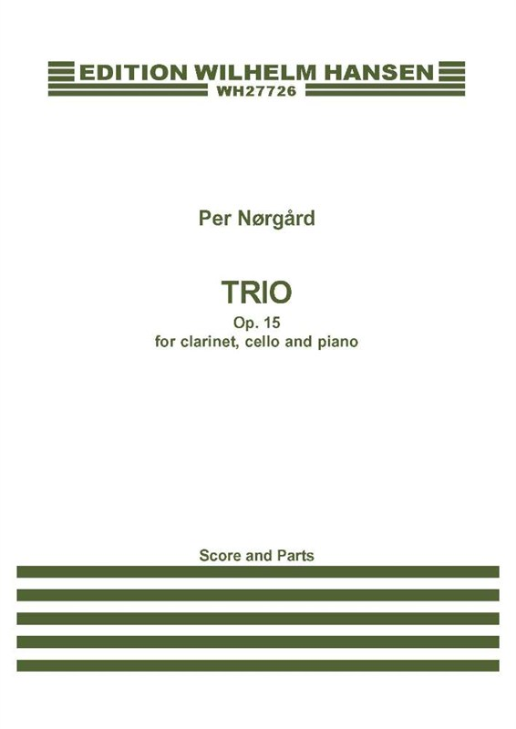 Per Nørgård: Trio Op.15: Piano Trio: Score and Parts