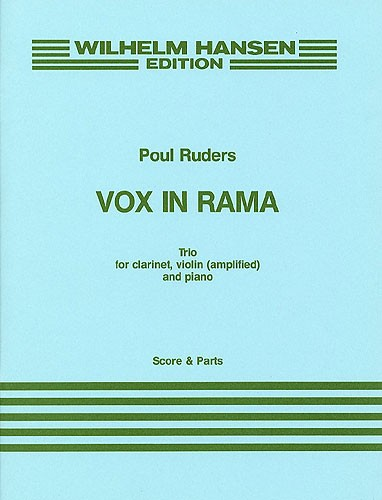 Poul Ruders: Vox In Rama: Chamber Ensemble: Score and Parts