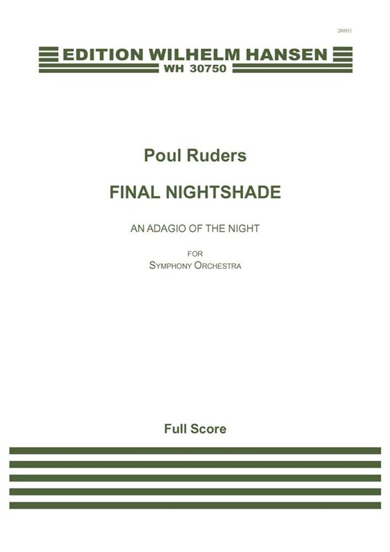 Poul Ruders: Final Nightshade - An Adagio Of The Night: Orchestra: Score