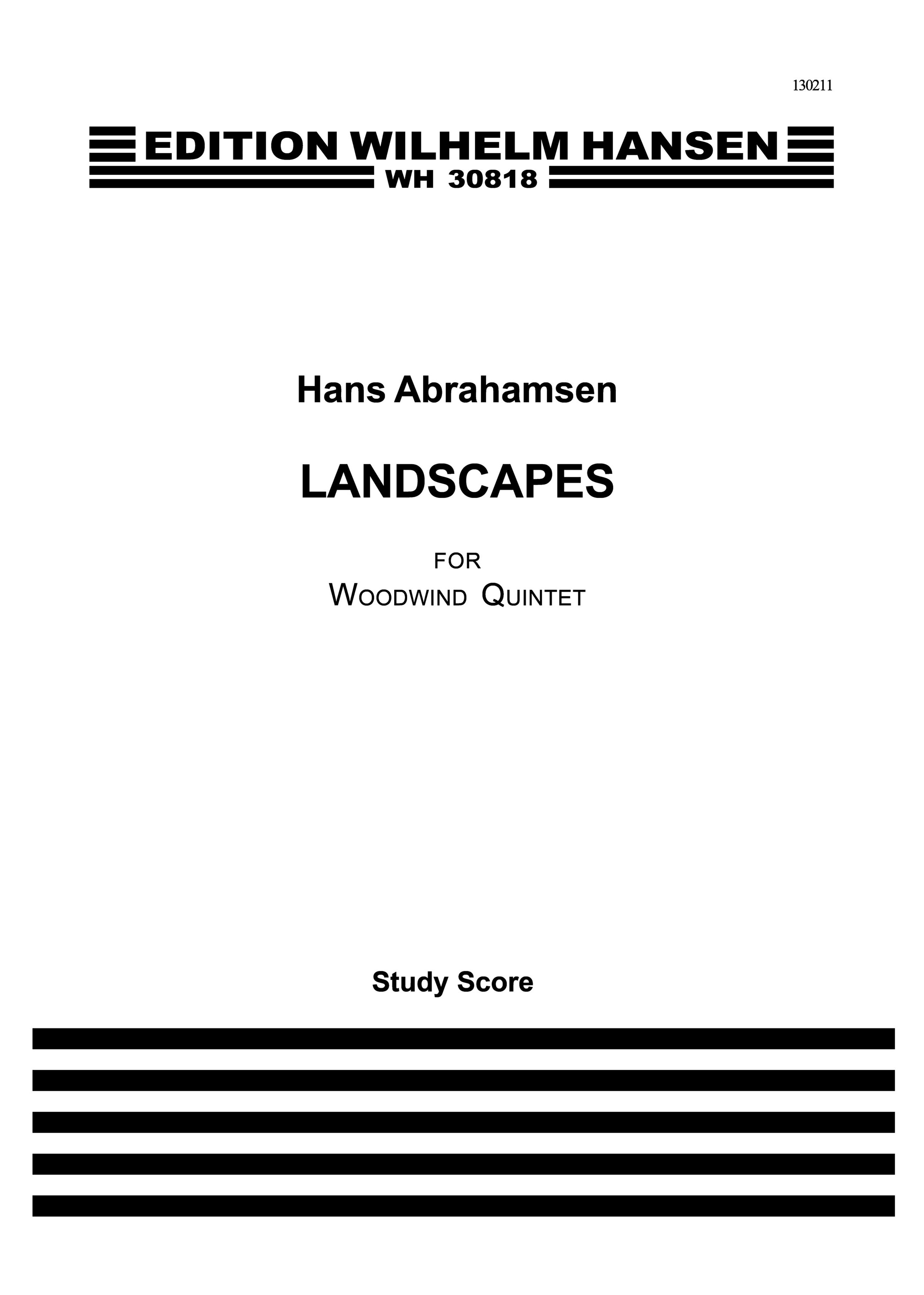 Hans Abrahamsen: Landscapes - Woodwind Quintet No.1: Wind Ensemble: Score