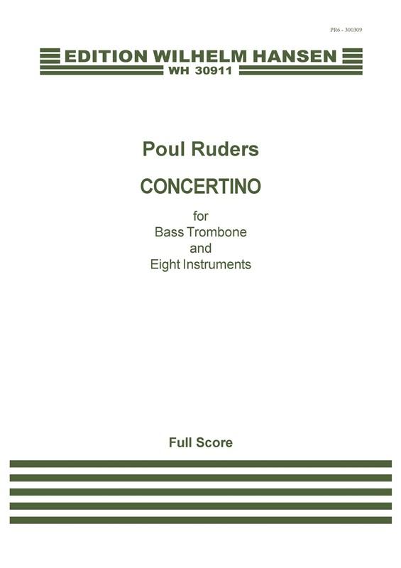 Poul Ruders: Concertino: Bass Trombone: Score