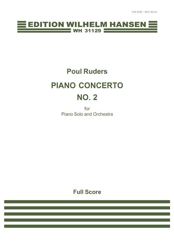 Poul Ruders: Piano Concerto No.2: Piano: Score