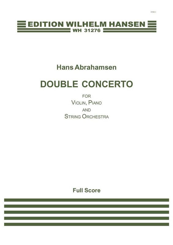 Hans Abrahamsen: Double Concerto: Violin: Score