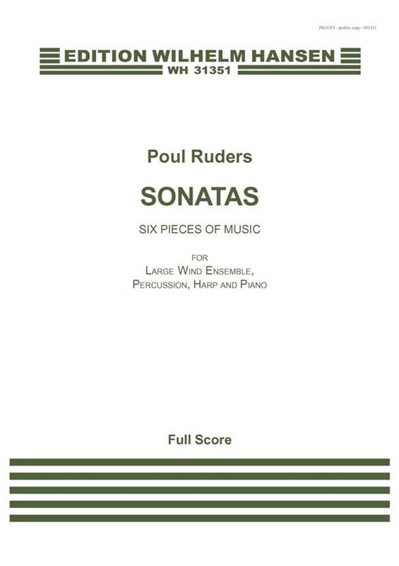 Poul Ruders: Sonatas: Mixed Choir: Score