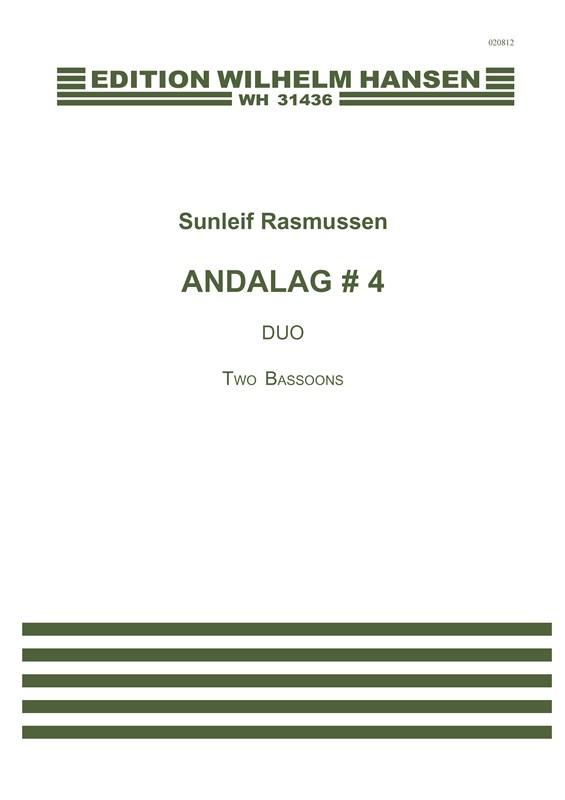 Sunleif Rasmussen: Andalag # 4: Bassoon Duet: Score
