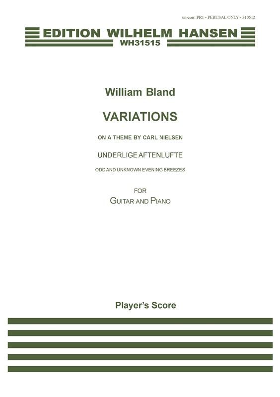 Carl Nielsen: Variations: Guitar: Instrumental Work