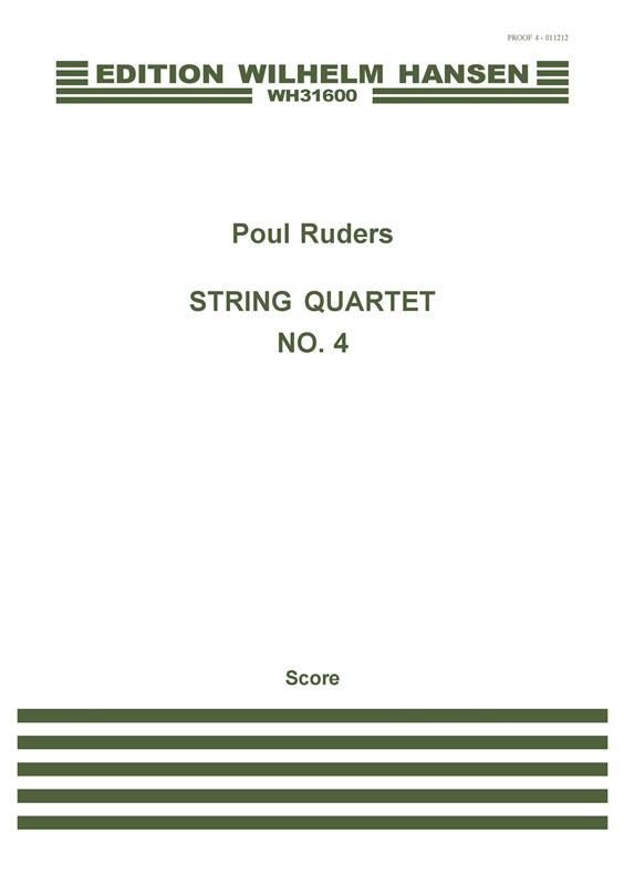 Poul Ruders: String Quartet No.4: String Quartet: Score