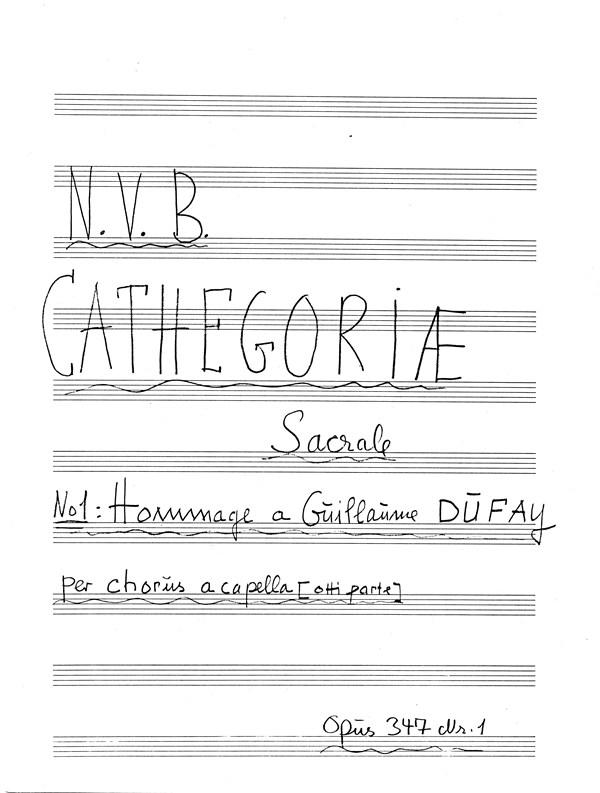 Niels Viggo Bentzon: Cathegoriae Sacrale No. 1 Op. 347: Mixed Choir: Score