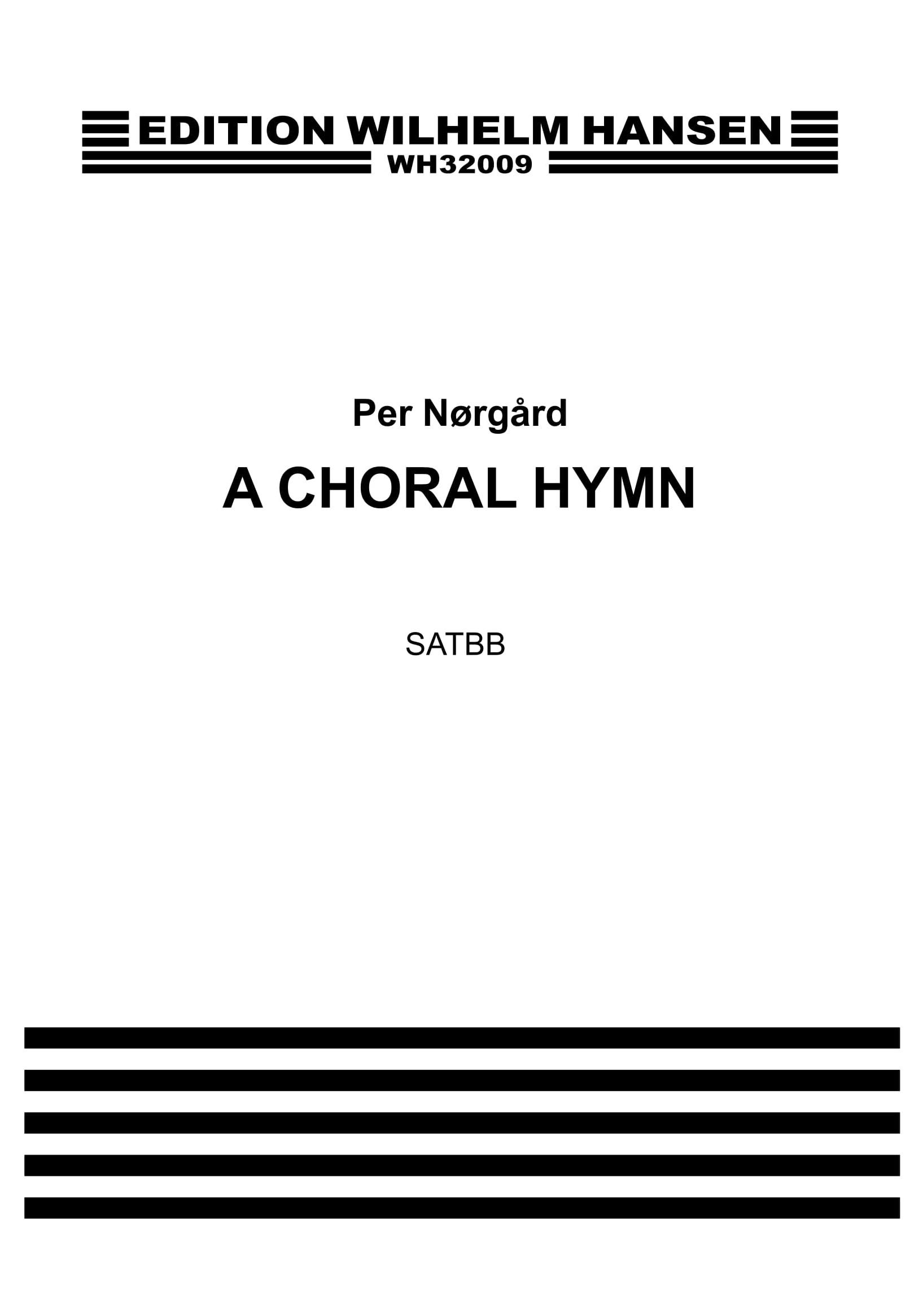 Per Nørgård: A Choral Hymn: SATB: Vocal Work