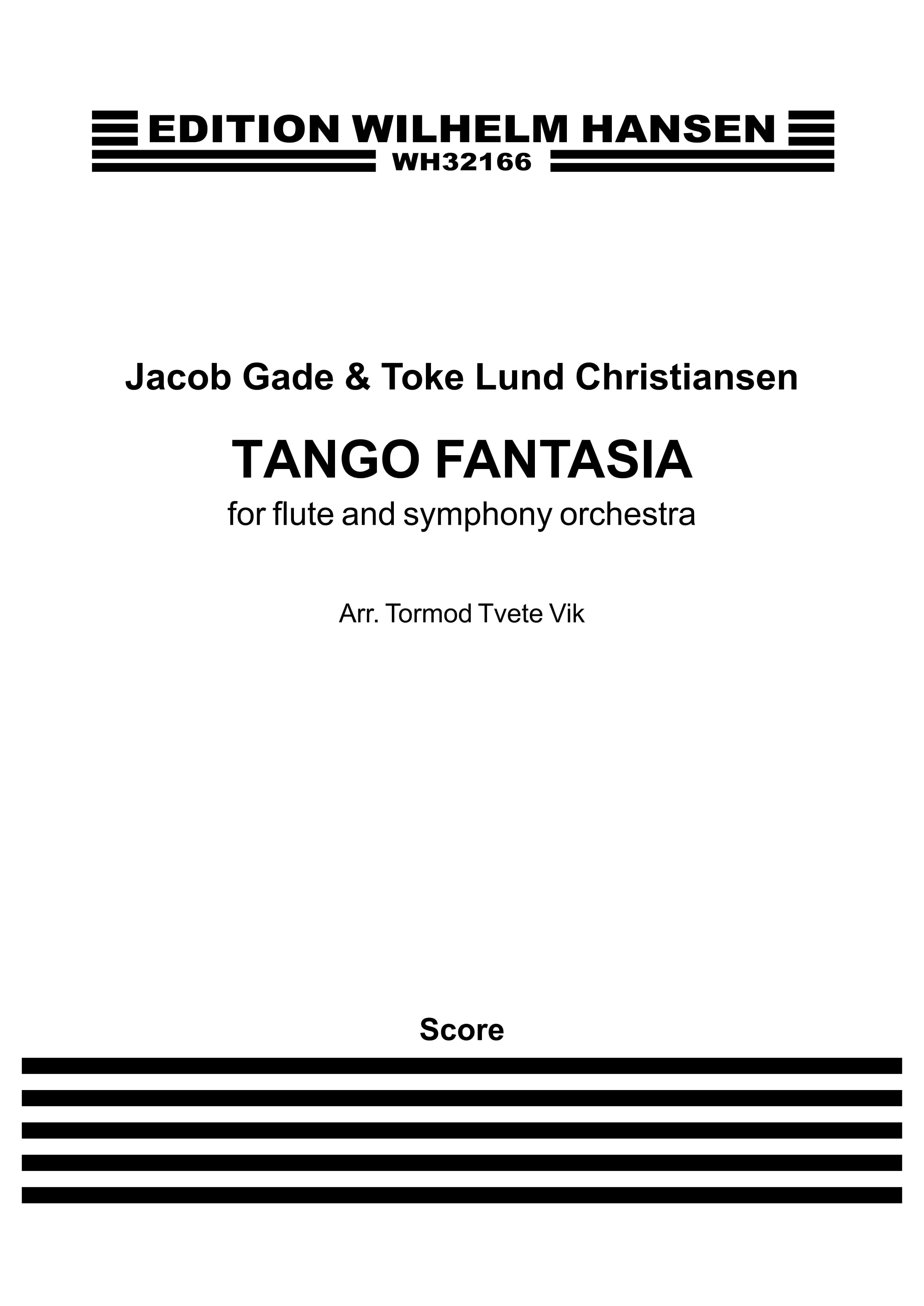 Jacob Gade: Tango Fantasia: Flute: Score
