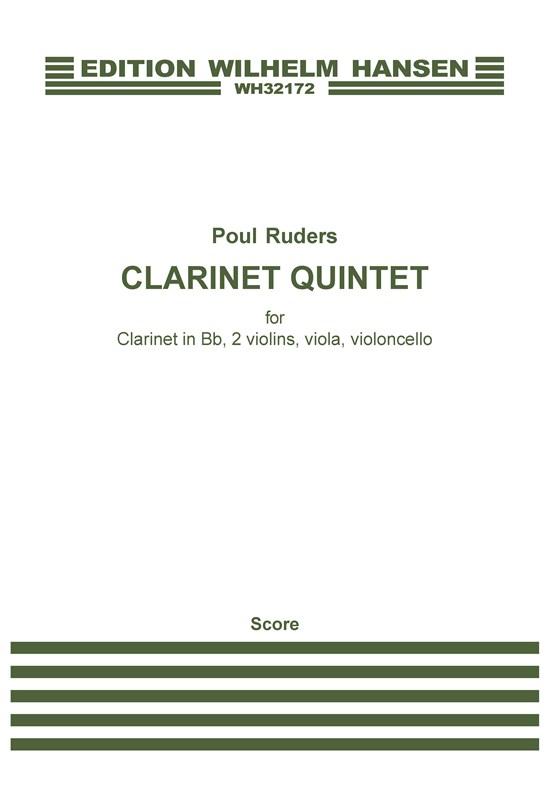 Poul Ruders: Clarinet Quintet: Clarinet & String Quartet: Score